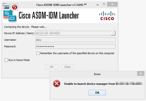 Cisco ASDM läuft nicht mehr nach Java 7 update 51- Die Lösung