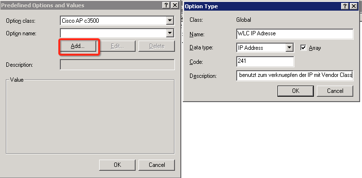 Option 60 43 windows dhcp server highlights und for Show dhcp pool cisco switch