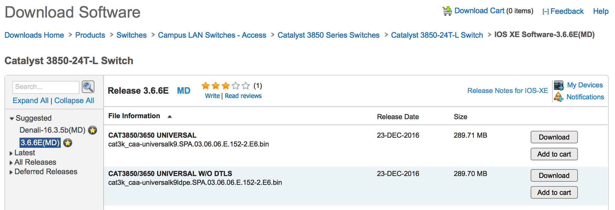 """Cisco Cytalyst 3850 """"{/tmp/packages conf} does not exist"""